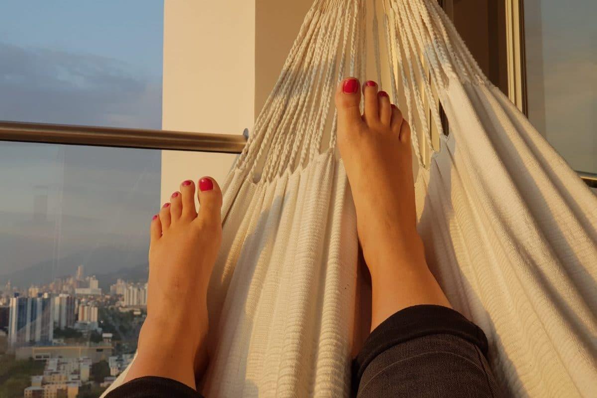 relaxen in hangmat