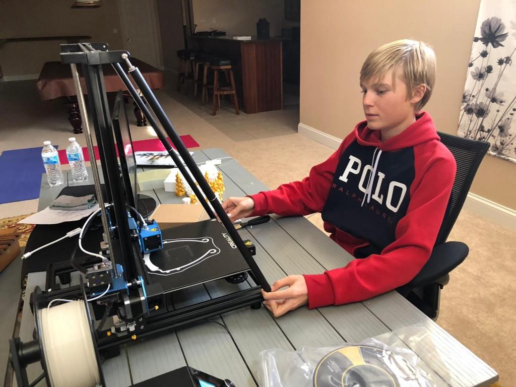 3D printer USA corona