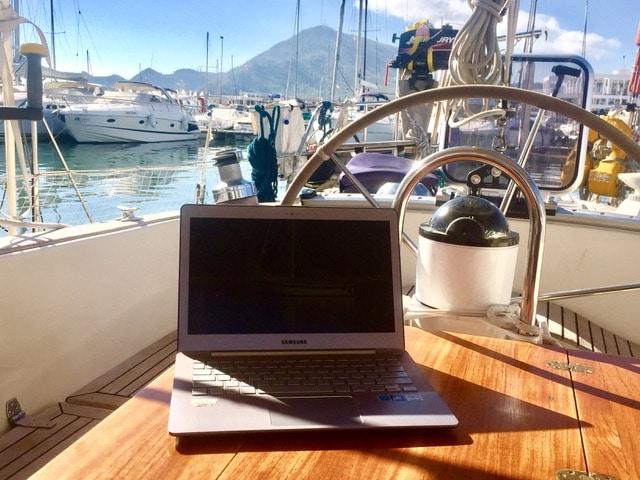 Werken op de boot