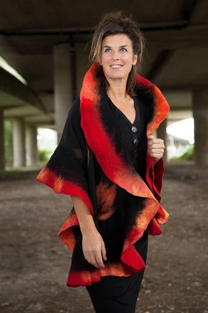 Bedrijf van een Wereldwijf: handgemaakte sjaal, Uruguay