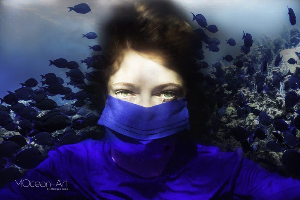 Max freediving met masker