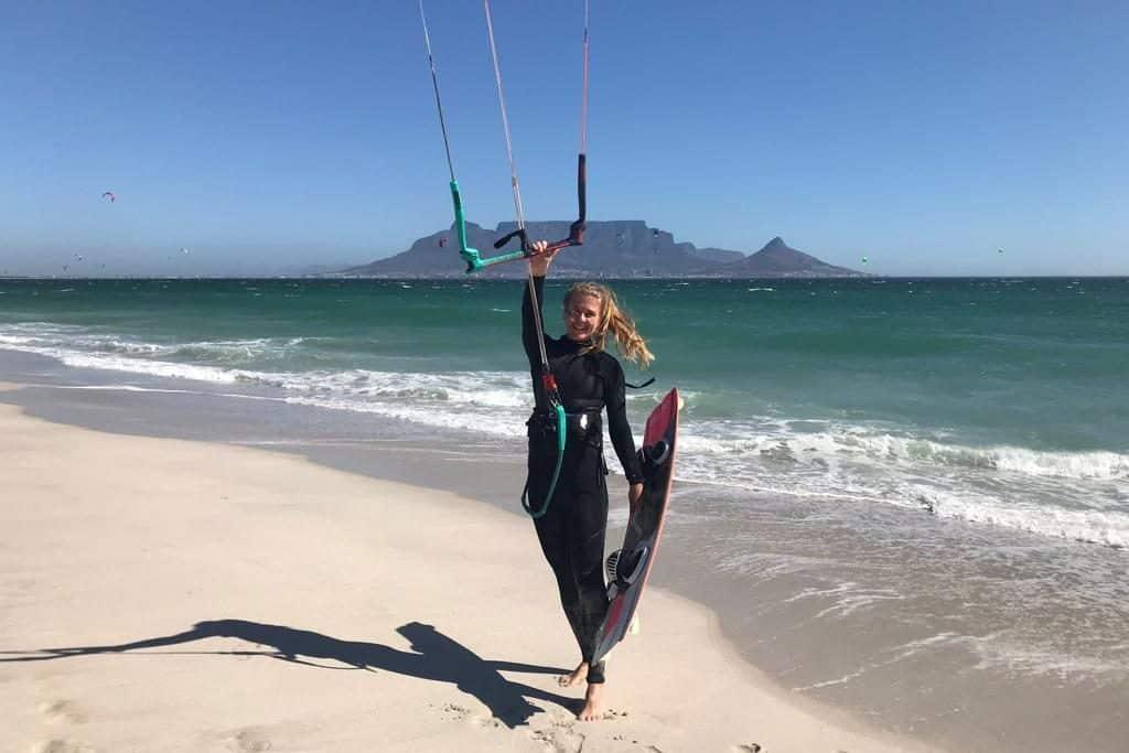kite surfen voor vrouwen